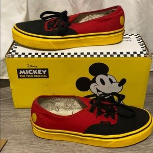 Limited edition mickey vans mens 6 womens 7.5